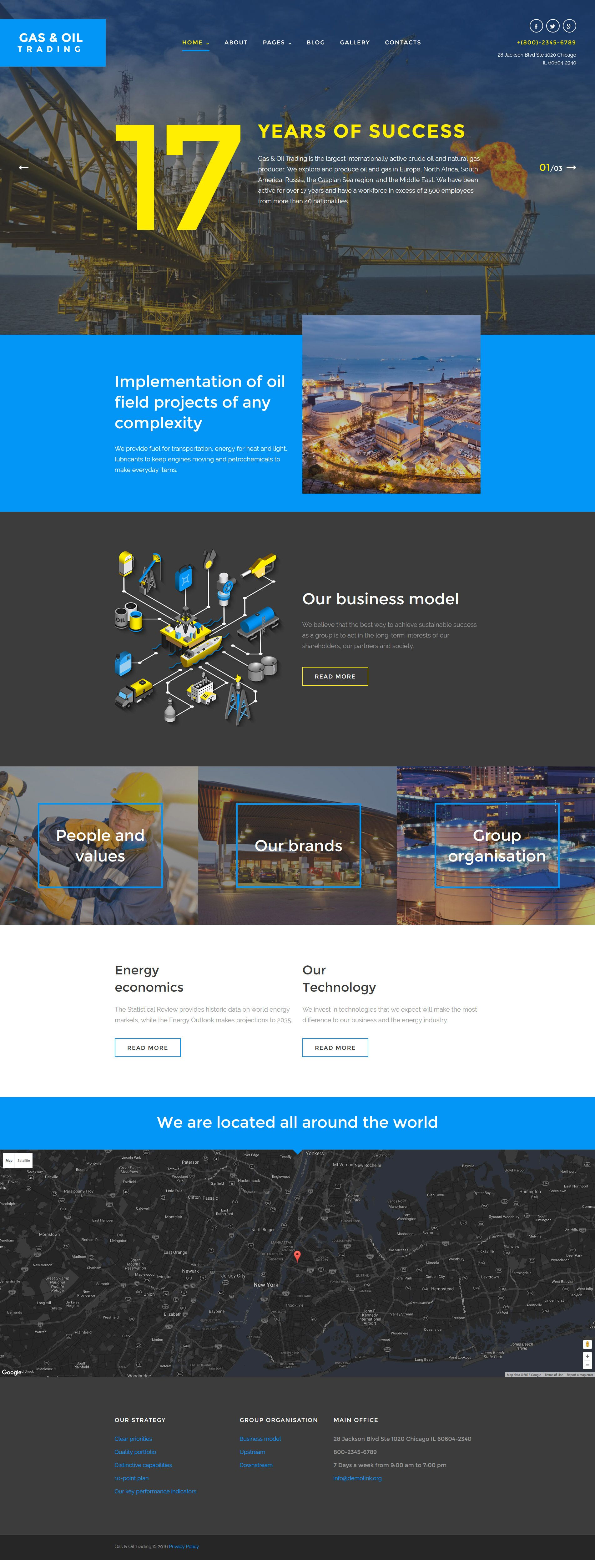 Gas & Oil Trading Joomla Template | Template, Website designs and ...