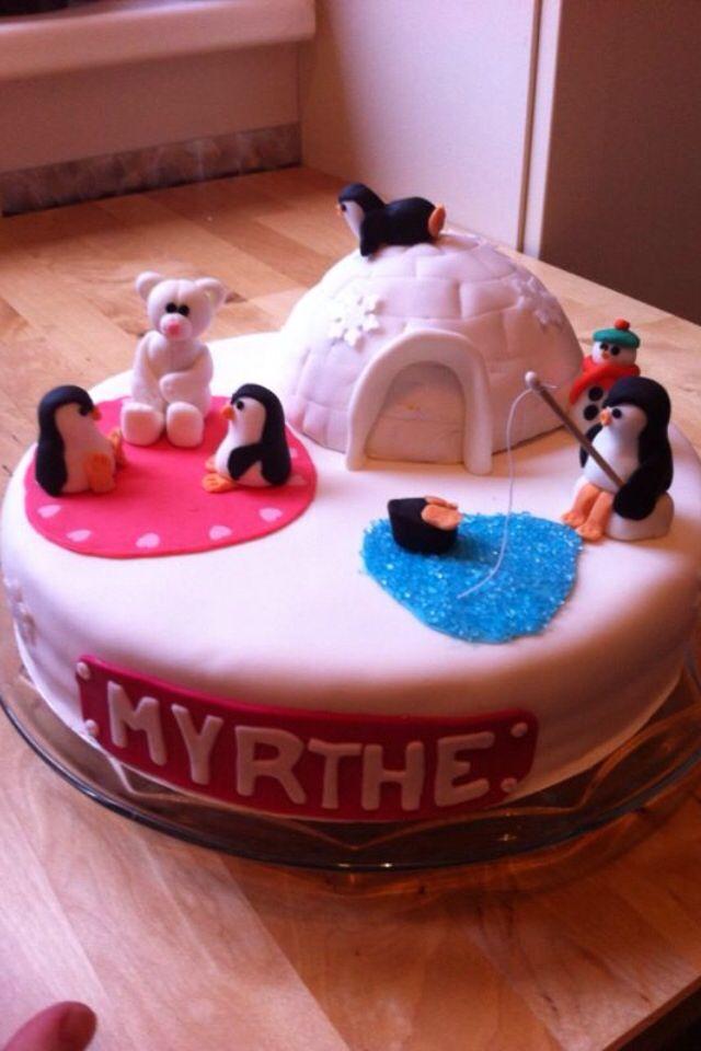 Pinguïn cake