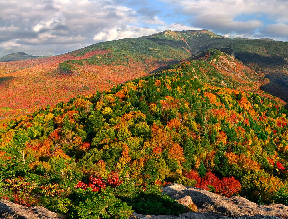 This is a glorious scene of autumn foliage blanketing the