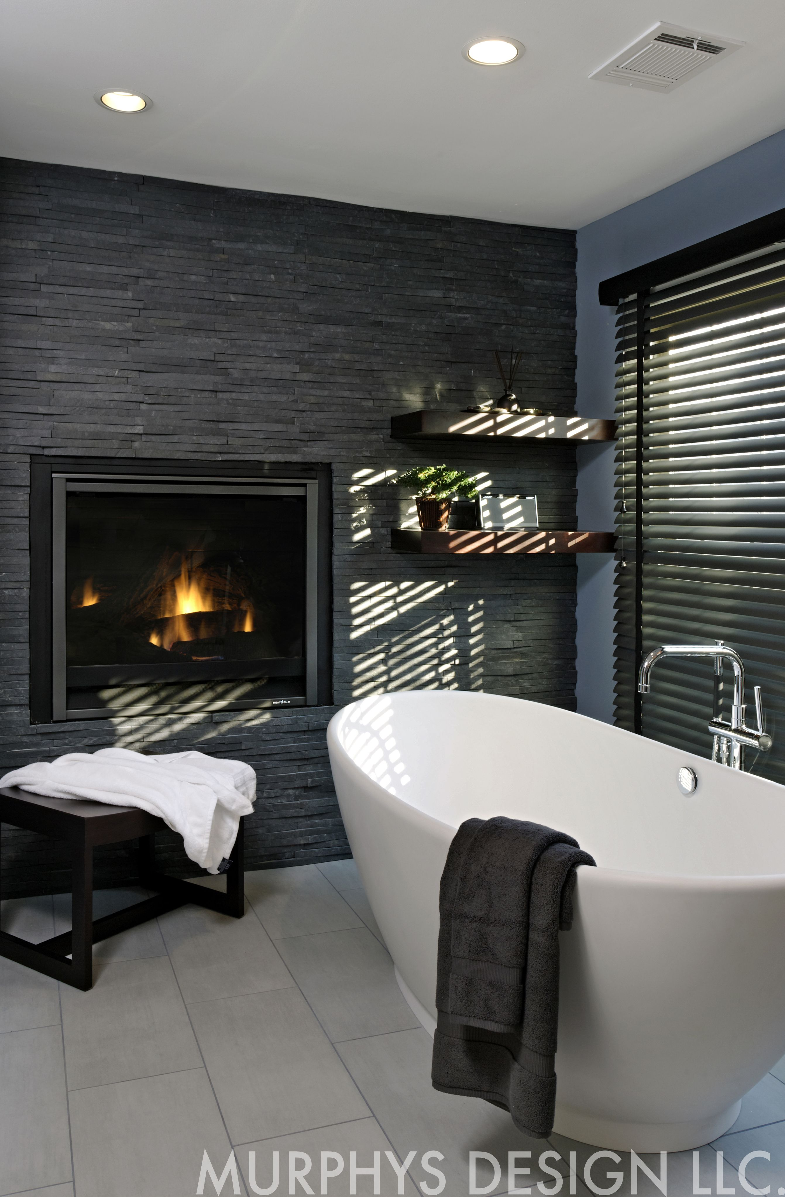 Virginia #bathroom #remodel With Two Way #fireplace And #soaking Alluring Virginia Bathroom Remodeling Inspiration Design