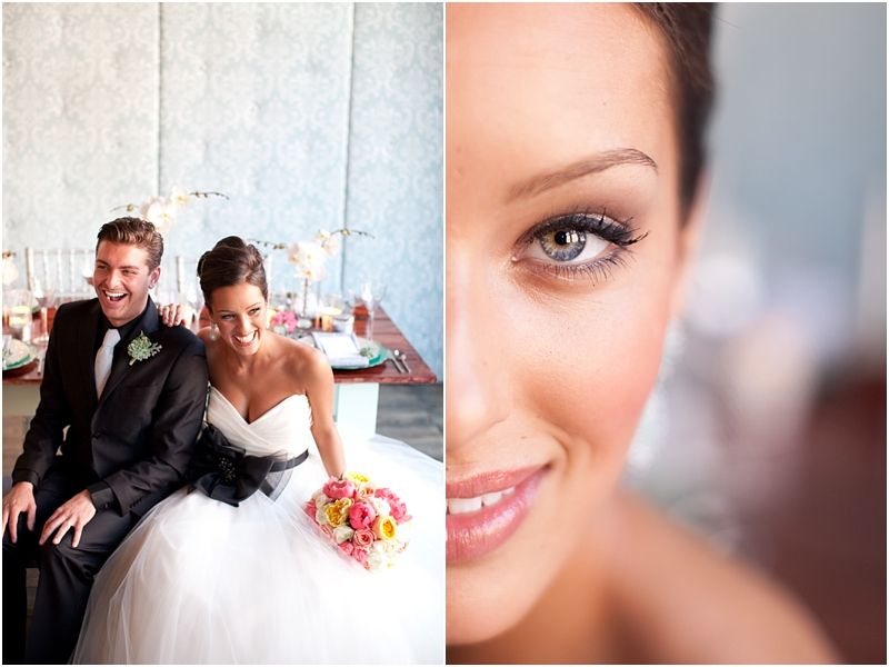 My friend Tayla did the makeup for this wedding. She is so amaing! Mint green wedding - perfect wedding makeup by Tayla LaMacchia