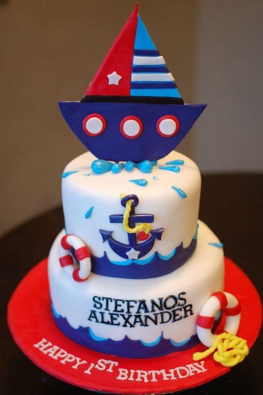 Brilliant Cute Like The Colors Nautical Birthday Cakes Nautical Theme Funny Birthday Cards Online Inifofree Goldxyz