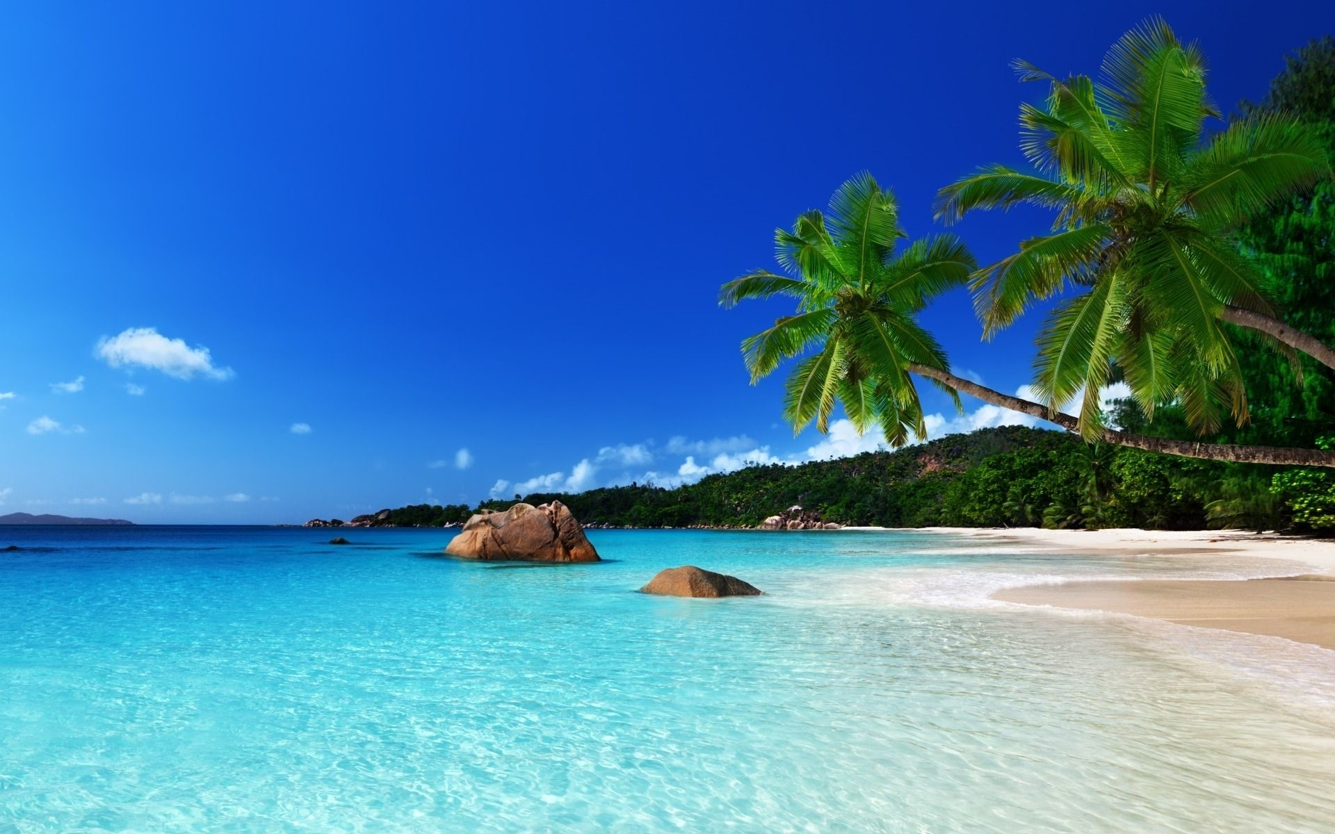 10 Latest Tropical Island Pictures Wallpaper Full Hd 1920 1080 For Pc Background Beach Wallpaper Tropical Paradise Beach Island Wallpaper