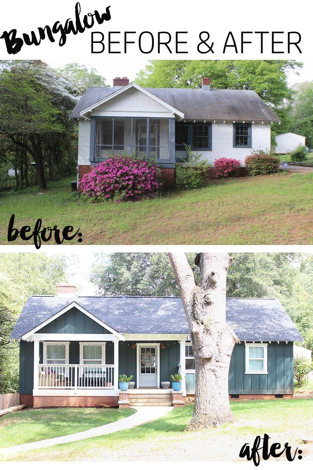 Our Bungalow Exterior Before & After