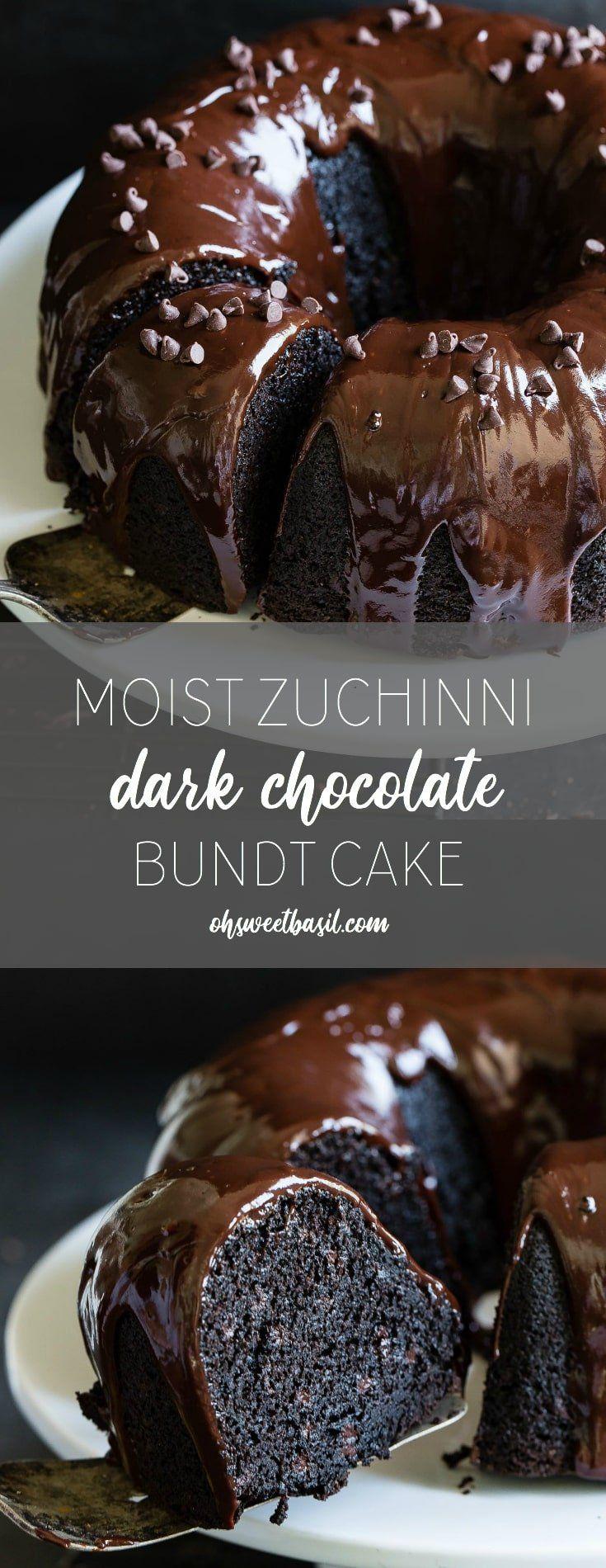 Moist zucchini dark chocolate bundt cake oh sweet basil