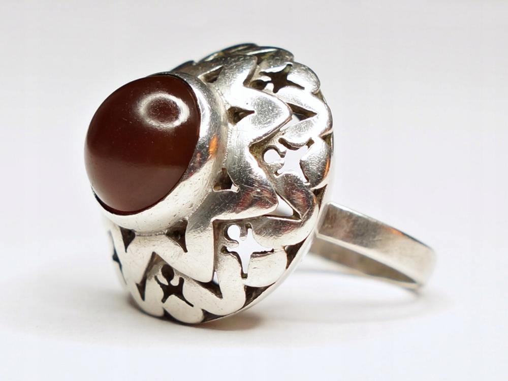 Pierscionek Spoldzielni Warmet Warszawa Karneol 8627528048 Oficjalne Archiwum Allegro Old Jewelry Jewelry Rings For Men