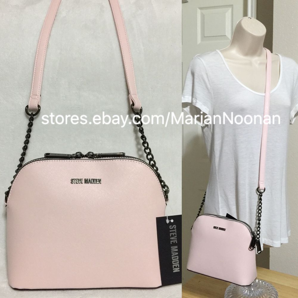 1e911ce627 NEW Steve Madden Blush Pink Crossbody Satchel Gunmetal Chain BMarilyn  DT204410 #SteveMadden #MessengerCrossBody