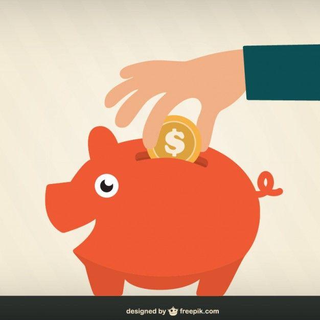 Ahorro de dinero vector gratis dise o grafico - Ideas para ahorrar dinero ...