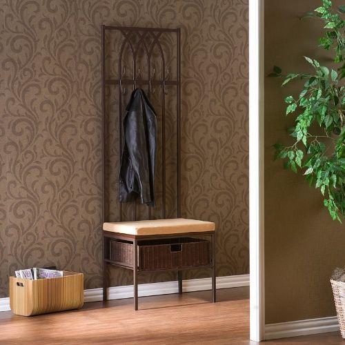 Tristan Hall Tree Entry Bench - Hall Trees at Hayneedle