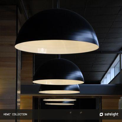 Bathroom Lighting Fixtures Melbourne hemi pendant light - satelight - dome shaped lights suspended in