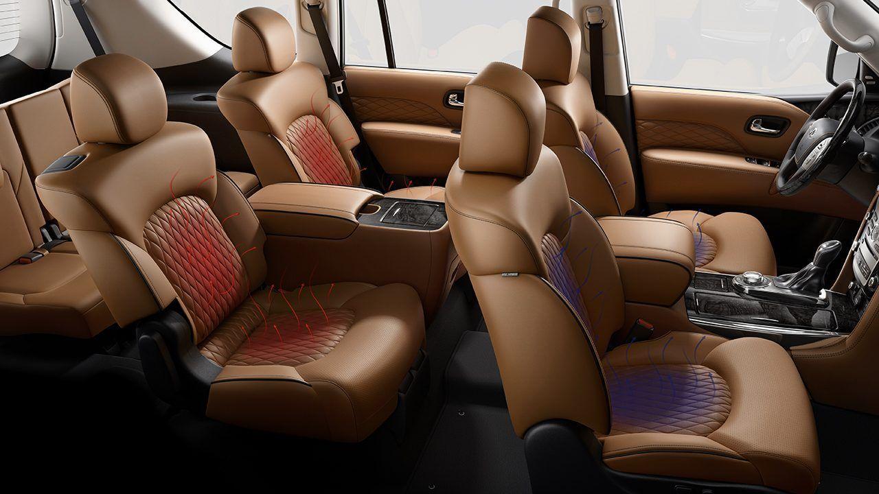 2018 Infiniti Qx80 Front And Rear Seating Luxury Car Interior Custom Car Interior Infiniti Usa
