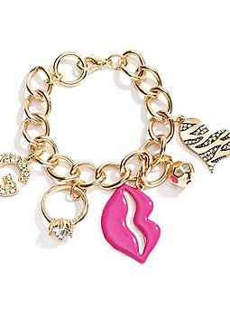 Kiss Charm Bracelet