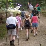 Hiking group at the Cuyahoga Valley National Park