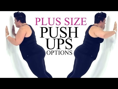 Push Up Exercise Modification - plus size - workout - episode 5 - YouTube #weightlossrecipesforwomen