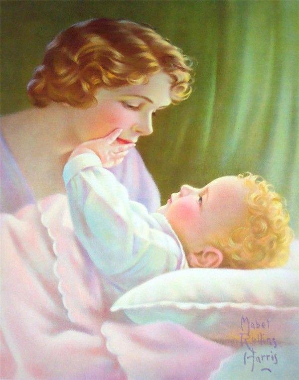 Красивые открытки мама и ребенок