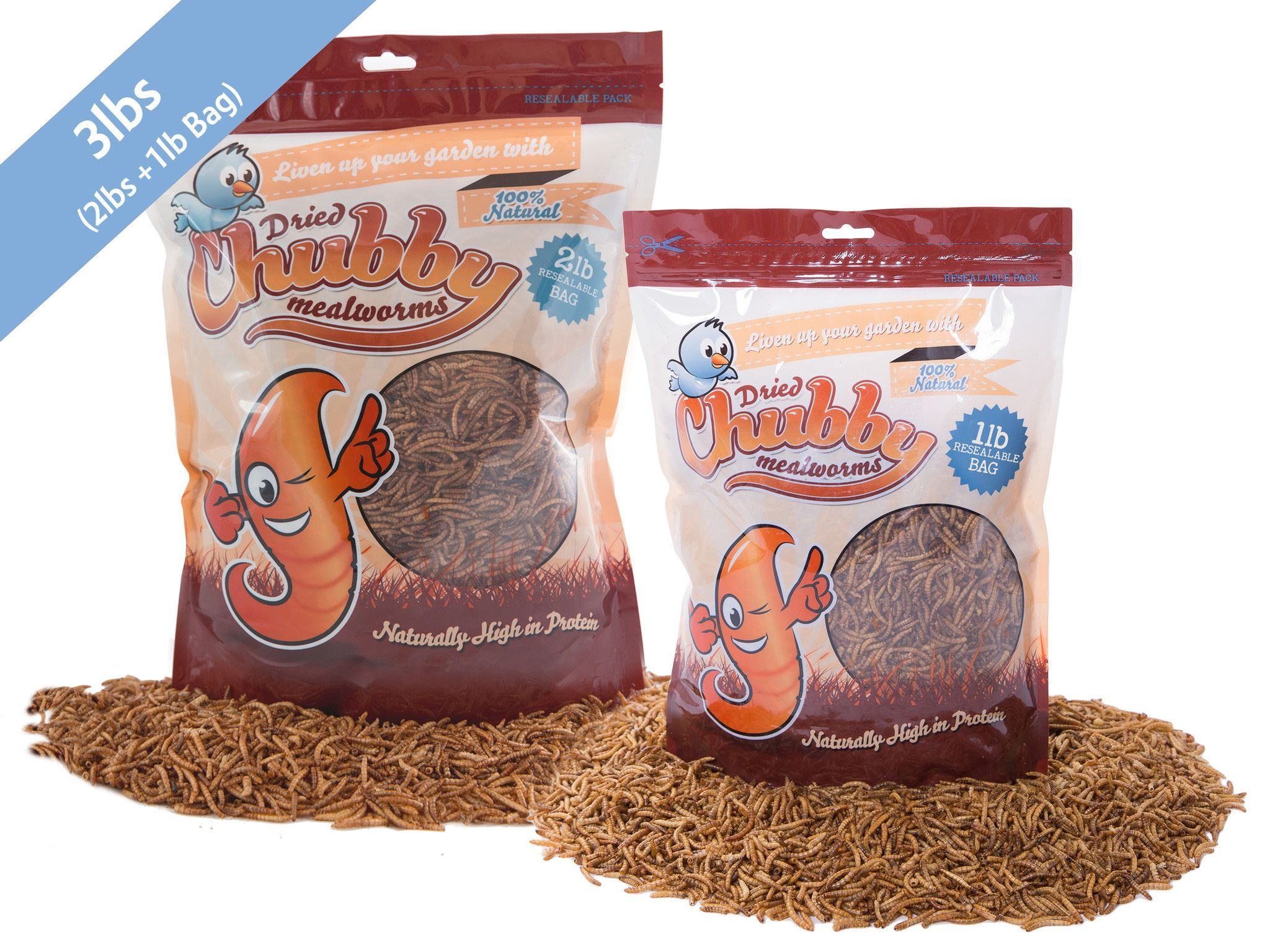 3Lbs Chubby Dried Mealworms