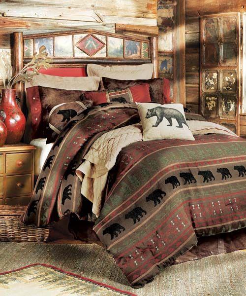 Rustic Bedding Sets Lodge Log Cabin Bedding Rustic Bedding