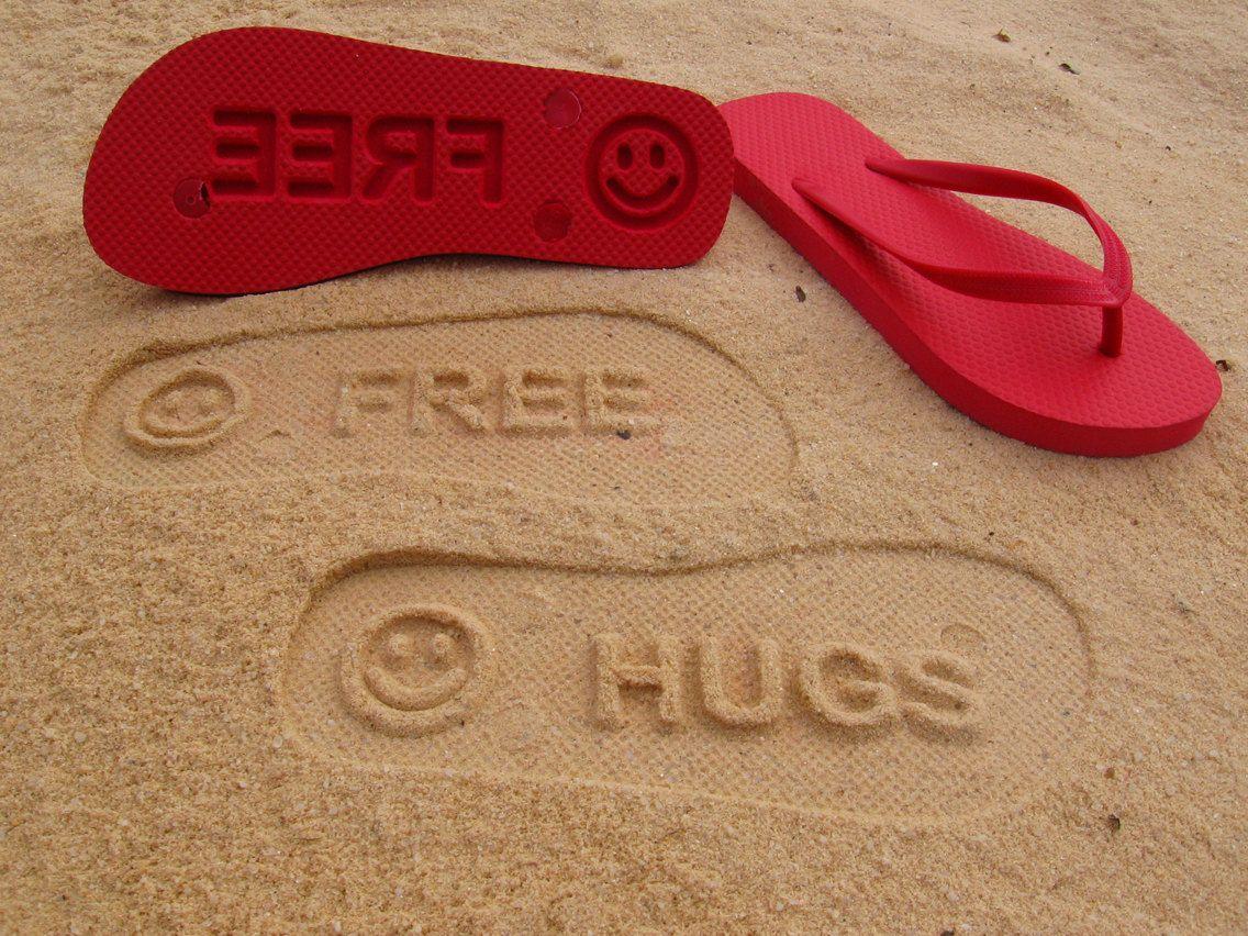 73b83d7b82b1ae Custom Sand Imprint Flip Flops. Your Design. No Minimum Order Quantity..   19.95
