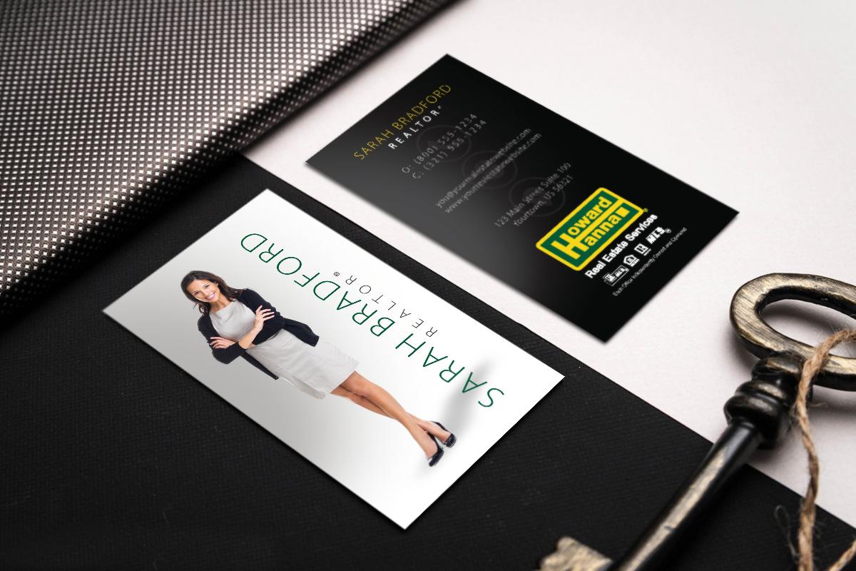 Shop New Real Estate Business Cards Designs For Howard Hanna Realestate Realestate High Quality Business Cards Realtor Business Cards Business Cards Online