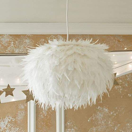 Awesome White Feather Lampshade