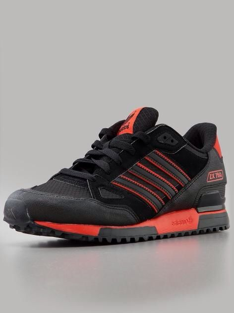 0bdfe07e5de adidas Originals ZX 750  Black Black Red