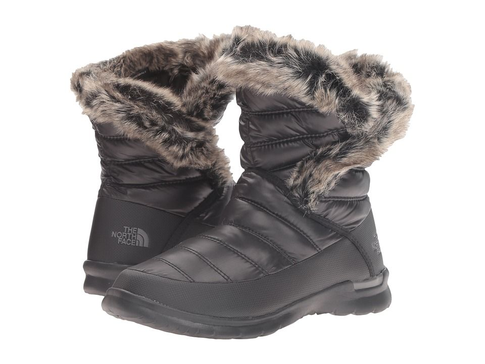 The North Face - ThermoBall Microbaffle Bootie II (Shiny TNF Black ...