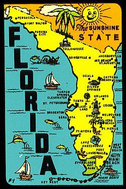 Map Of State Of Florida.Florida The Sunshine State Prints Florida Sunshine State