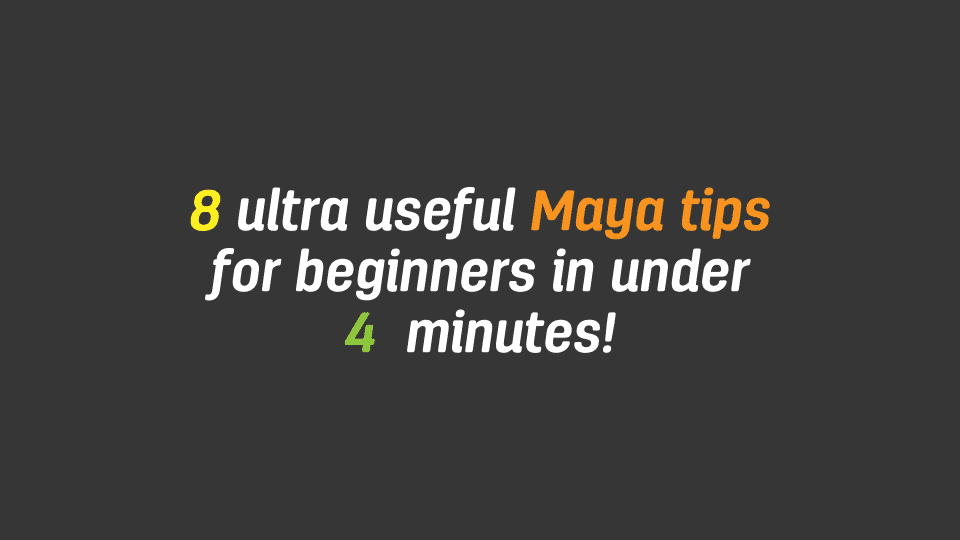 Autodesk Maya can be extremely daunting to a beginner 3D artist. Watch 8 ultra useful Maya tips for beginners in under 4 minutes video and tutorial here.