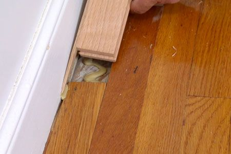 How To Repair A Tongue And Groove Wood Floor Wood Floor Repair Flooring Home Repairs