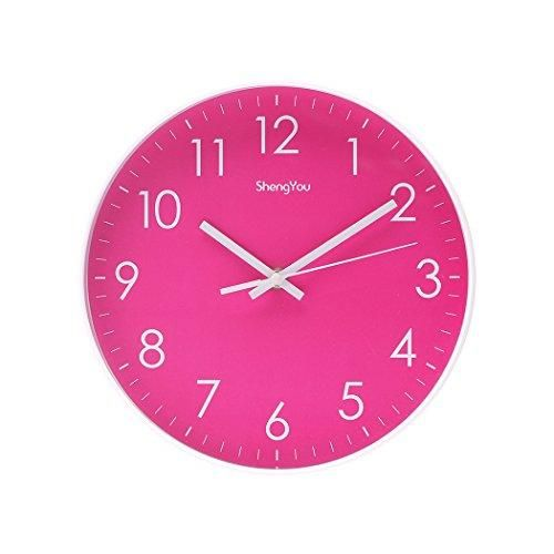 Sonyo Indoor Non Ticking Silent Quartz Modern Simple Wall Clock Digital Quiet Sweep Movement Office Decor 10 Inch Bluegreen Wall Clock Digital Clock Wall Clock