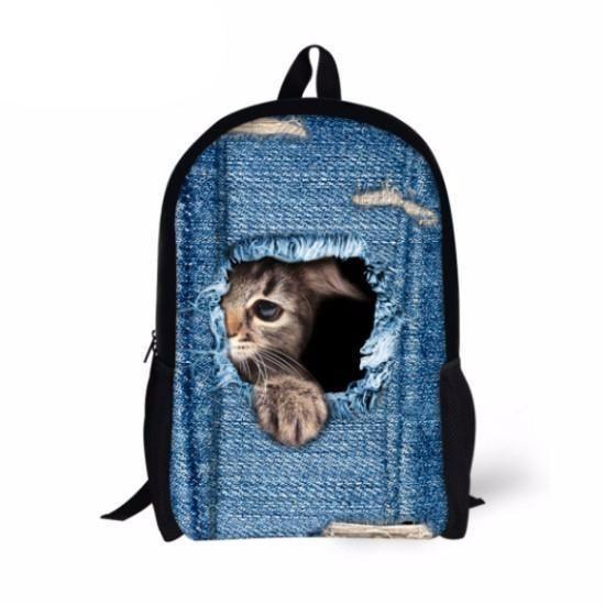 Cute 3D Denim Casual Backpacks
