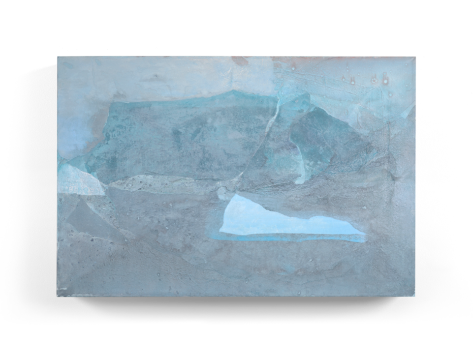 Untitled. Original artwork created by SoHyun Bae in 2015. Rice paper and pure pigment on canvas.