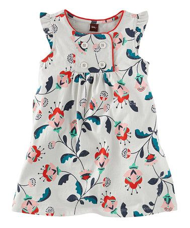 Another great find on #zulily! Pearl Gray Floral Blumengarten Dress - Infant, Toddler & Girls #zulilyfinds