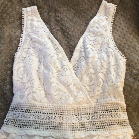 8a9e530fd4f0 Cute white lace romper. Kendall   Kylie Never worn before. Kendall   Kylie  Other