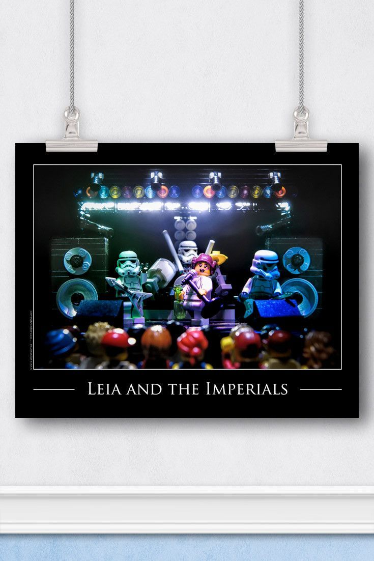 Star Wars™ LEGO® Art: Princess Leia is a Rock and Roll Icon