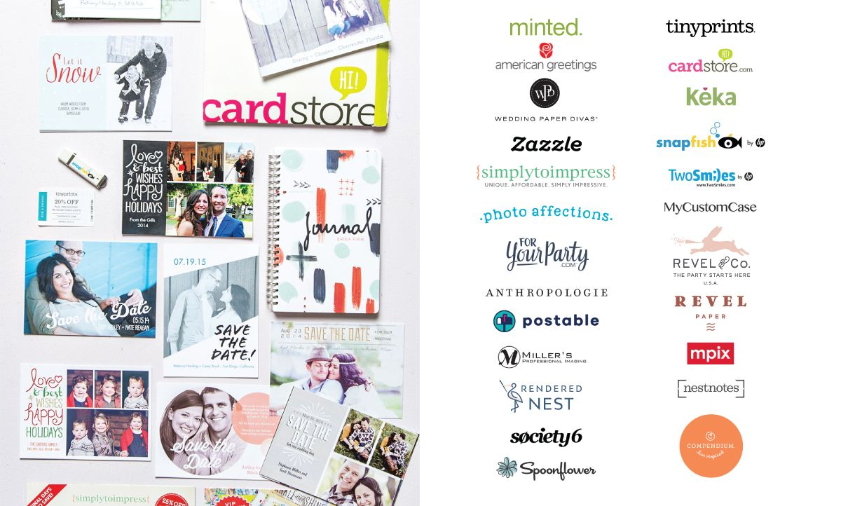 Erika Firm Collaborations With Minted American Greetings Wedding