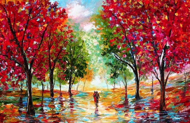 Abstract Art Painting Couple In Nature Best Abstract Paintings Colorful Paintings Abstract Painting