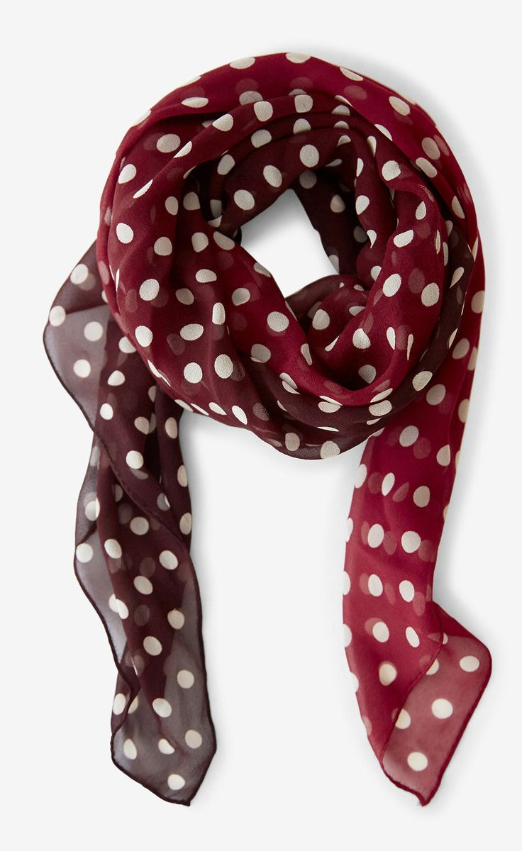 Ralph Lauren Silk Red And White Scarf