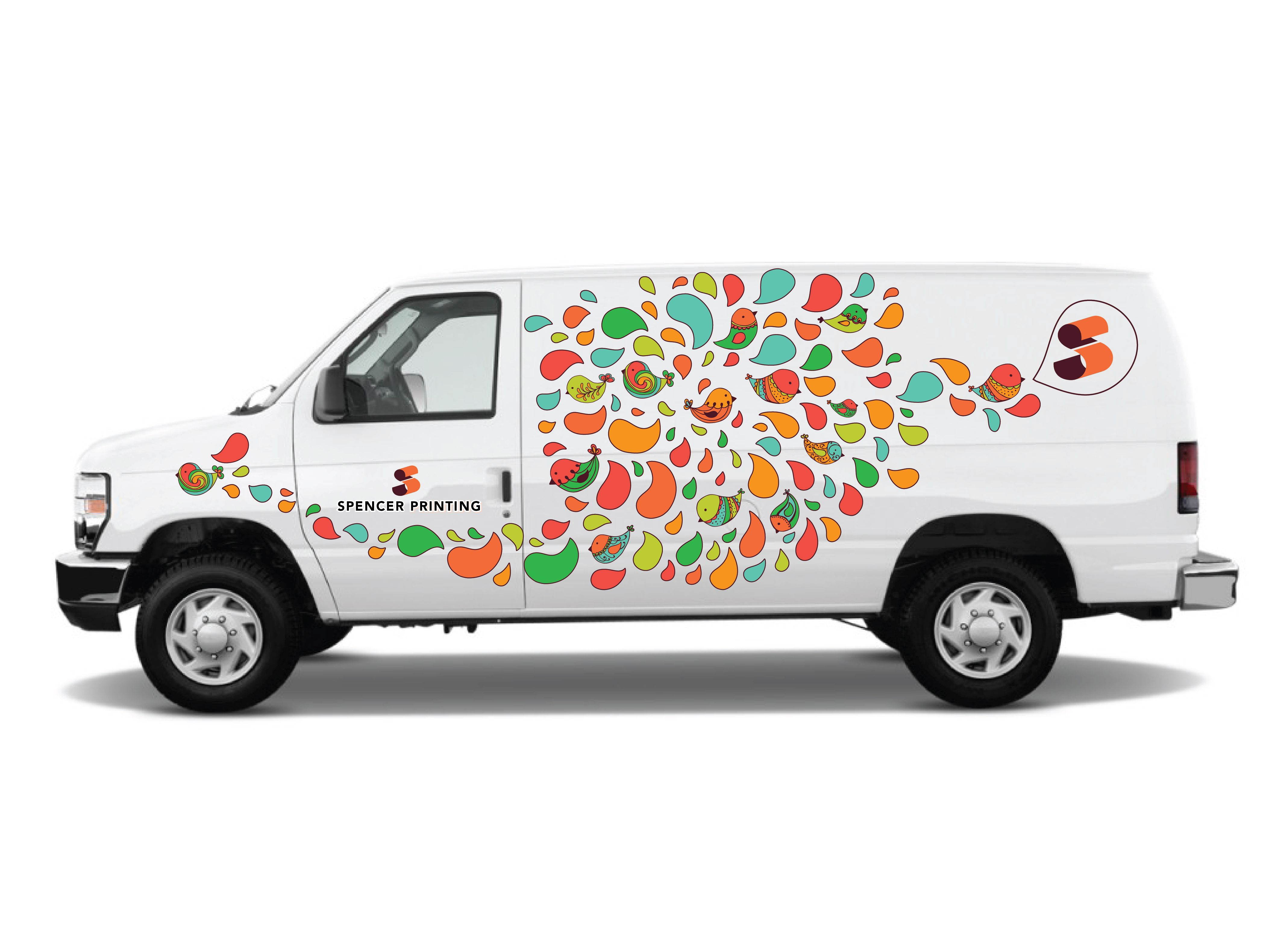 Image Result For Partial Wrap Around Truck Van Colorful