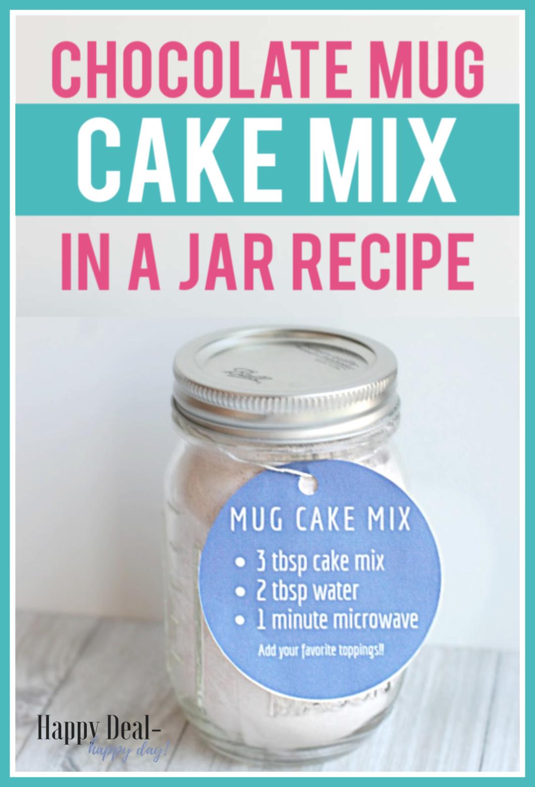 Chocolate Mug Cake Mix in a Jar | Recipe | Mug cake, Meals ...