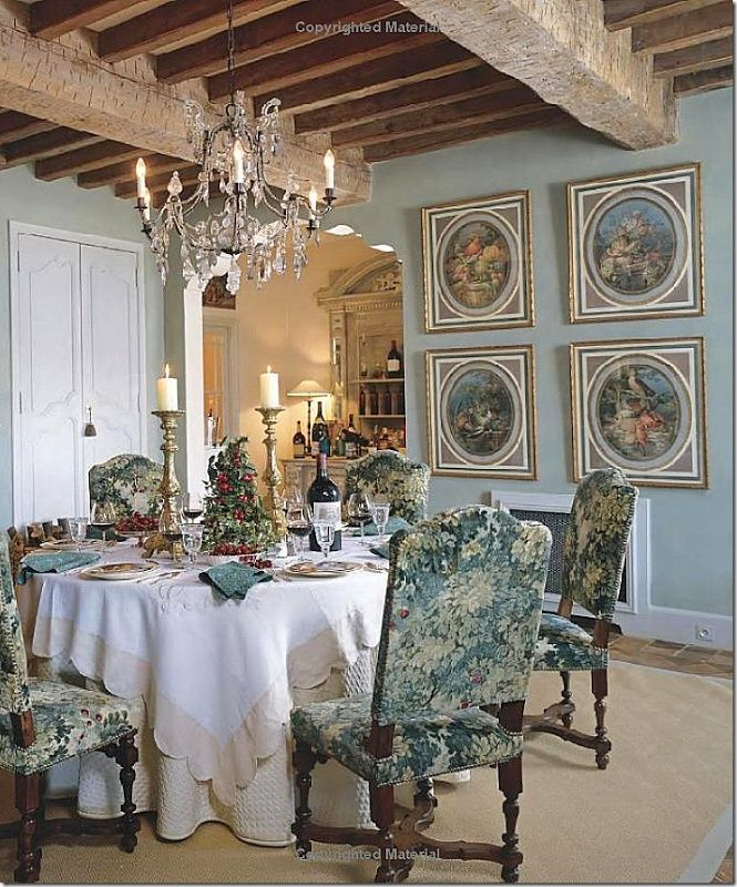 French Dining Room In Provence Country