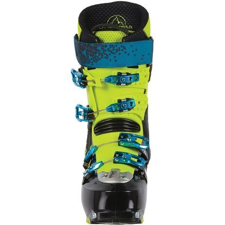 If you're ready to take your backcountry ascents and descents to the next level, the La Sportiva Spectre 2. 0 Alpine Touring Boot is the tool you need to excel. Not only is it the lightest four-buckle AT boot on the market, the Spectre also has a true sixty degrees of cuff motion for effortless hiking and skinning. The boot features an EZ-Flex tongue rib, reshaped Grilamid shell, and EZ Thermo liner that work together to provide smooth travel and ultimate comfort for all-day skimo missions. For