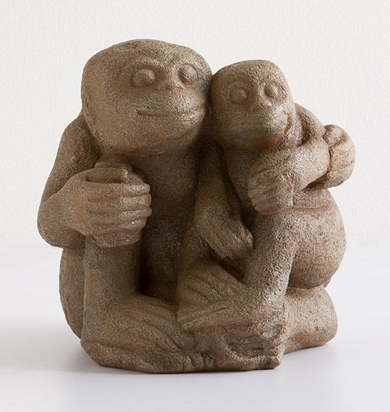 Simian Mother and Child Sculpture, Sculpture, Home Furnishings - The Museum Shop of The Art Institute of Chicago