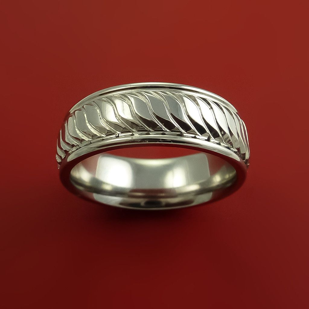 Cobalt Chrome Unique Coil Twist Bright Comfortable Ring Made to Any Sizing @stonebrookjewel