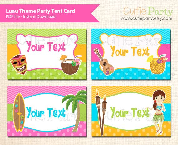 Tropical Themed Party Ideas Free Printables: Luau Theme Party Editable Party Printable, Hawaii Party