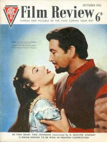 Ava Gardner And Robert Taylor On The Front Cover Of Abc Film Review