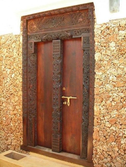 Door carving is a popular tradition in Lamu