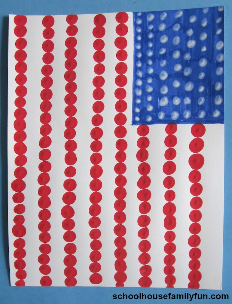 0555999237d4 American Flag Finger Painting Craft. A fun art project for 4th of July or  Memorial Day.