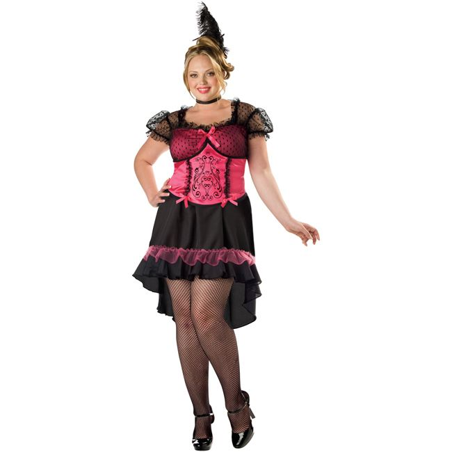 Moulin Rouge Saloon Gal Costume Plus Size Plus Size Costumes