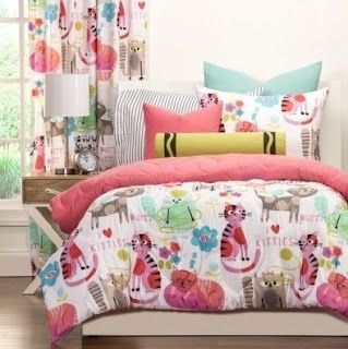 Captivating Bedroom Decor Ideas And Designs: Top Ten Cat Themed Bedding For Cat Lovers!